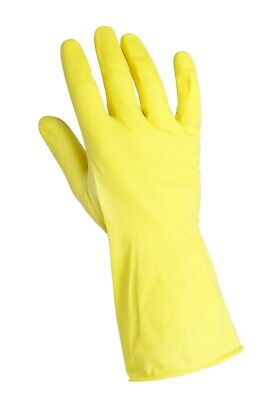 120 Pairs Yellow Washing Up Gloves, Food Safe, Size 7 (Small)