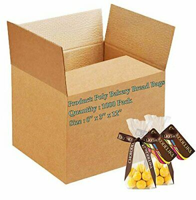 1000 Poly Bakery Bread Bags 6 x 3 x 12 Clear Gusseted Bags