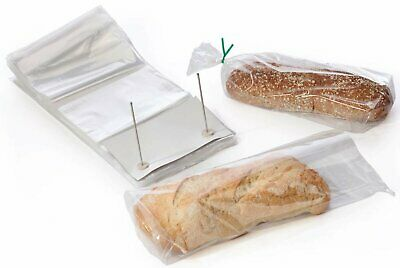 1000 Poly Bakery Bread Bags 14 x 24 + 3 Lip Clear Bags on Wicket