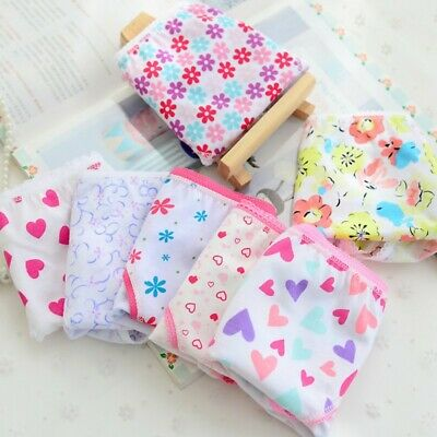 6pcs Child Underwear Baby Kids Girls Underpants Soft Cotton Panties Short Briefs