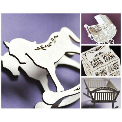 WYCINANKA New Baby Birthday Gift 3D Ornaments Craft Shapes for Explosion Box ...