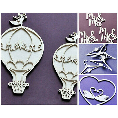 WYCINANKA Wedding Love Romantic Ornaments Craft Shapes for Card Making Chipbo...