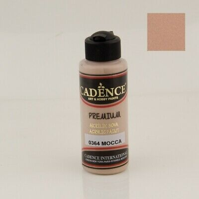 CADENCE Premium Semi Matt Acrylic Paint 0364 Mocca 120ml Decoupage Art Craft