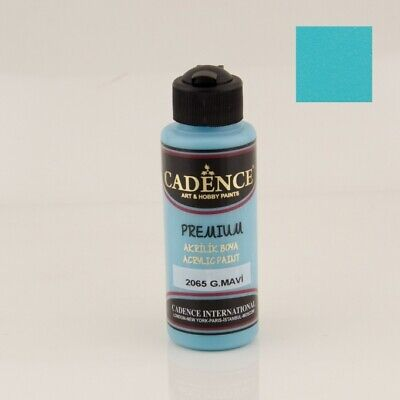 CADENCE Premium Semi Matt Acrylic Paint 2065 Azure Blue 120ml Decoupage Art C...