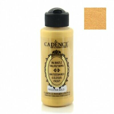 CADENCE Waterbased Gilding Paint 110 Extra Gold 120ml Decoupage Art Craft
