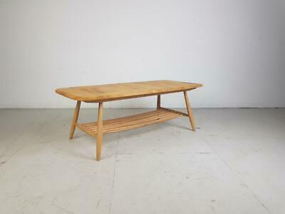 ERCOL BLONDE COFFEE OCCASIONAL TABLE VINTAGE MIDCENTURY 60s #2752