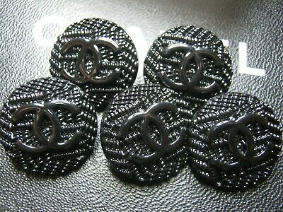 Chanel 5 Authentic  Cc Logo All Black  23 Mm Buttons This Is For 5