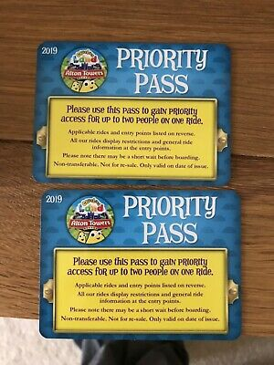 2x 2019 Genuine Alton Towers CBeebies Land Fast Track (Priority Pass)