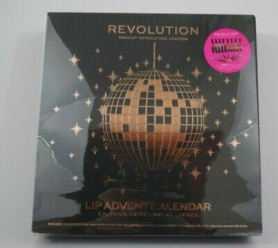 Revolution Makeup London Lip Advent Calendar Christmas 2019 25 Items NEW SEALED