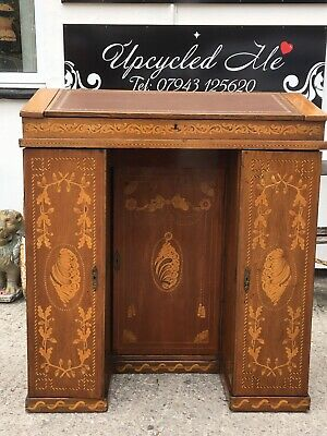 19th Irish Clerks/Maitre De Desk Superb Marquetry!