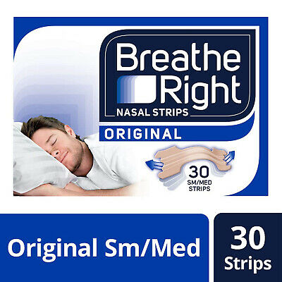 Breathe Right Snoring Congestion Relief Nasal Small/Medium - 30 Strips