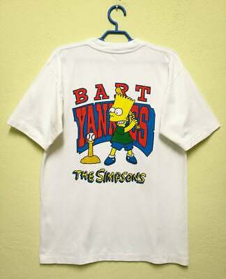 Vintage 90s Bart Simpson Yankess The Simpsons Cartoon T-shirt .