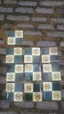 Antique Victorian Tiles Old Ceramic Tiles Vintage Tiles