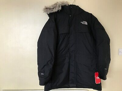 * The North Face Mens McMurdo Parka Jacket Black XL * Brand New * RRP £380 *