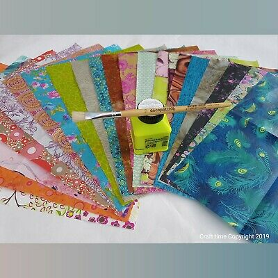 Decopatch Decoupage Starter Kit With 20 Papers