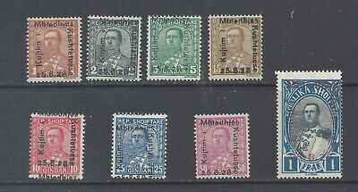 ALBANIA 1928 National Assembly set of 8 M.H.  SG 231/238