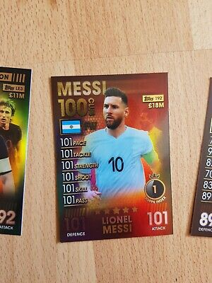 Match Attax 101(80cards) - 101 Club messi, plus limited edition modric, legends.
