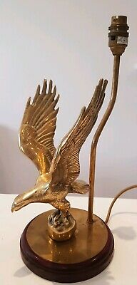 A Vintage Solid Brass Eagle Table Lamp Antique Style Fine Detailing & Quality
