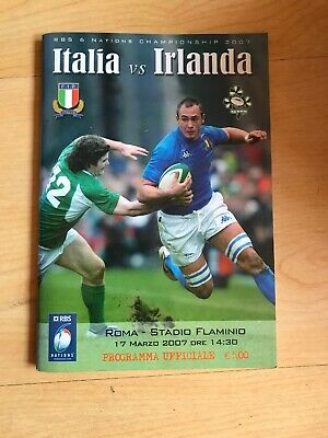 Italia Italy Vs Irlanda Ireland RBS 6 Nations Rugby Programme Booklet 2007