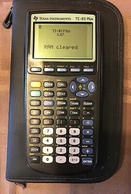 Texas Instruments TI-83 Plus Graphing Calculator Tested Great Condition W Case