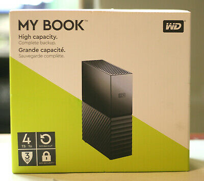 WD My Book 4TB Hight Capacity Complete Backup Brand New Ships Free