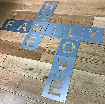 Metal Letter Templates Lettering Personalised stencils alphabet letters numbers