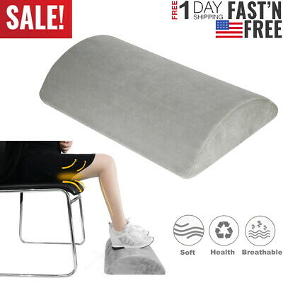Office Under Desk Foot Rest Pillow Memory Foam Knee Cushion Non-Slip Washable US