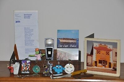 Eclectic Junk Drawer Lot Of 19  Mixed Items Bottle Openers /Key Chains/Wood Box