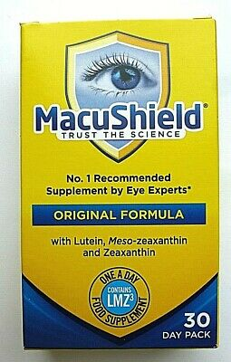 MacuShield Original Formula With Lutein, Mesozeaxanthin - 30 Day Pack
