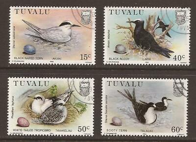 TUVALU 1985 SG309/312 Birds and their Eggs Set - Fine Used (JB8157)