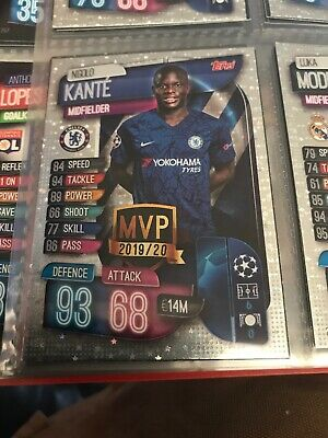 Match Attax 2019/20 Ngolo Kante MVP card New Chelsea
