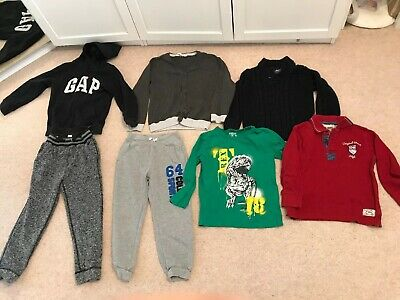 Bundle Of Boys 7 Winter Clothes Size 6-7 Years GAP, Oshkosh, H&M, Rebel