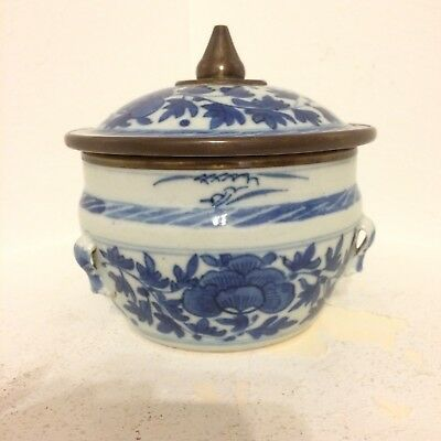 Chinese Antique Blue White Jar