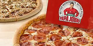 Papa John's - Large Pizza Voucher Code - Worth £15.99