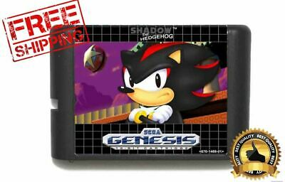 Game Shadow Hedgehog Sega Genesis Cart 16bit Sonic Hack Megadrive without box