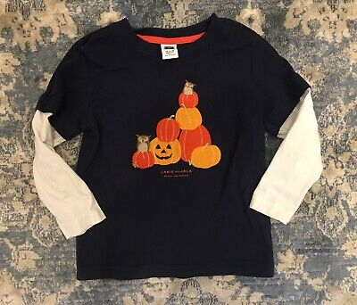 (EUC!) Janie and Jack Baby Boy Halloween Thanksgiving Shirt, 12-18 Months