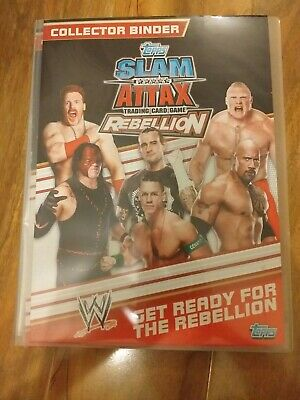 WWE Topps Slam Attax Rebellion Binder And Cards