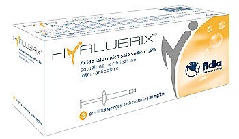 Siringa Intra-Articolare Hyalubrix Acido Ialuronico 1,5% 30 Mg 2 Ml 3pz