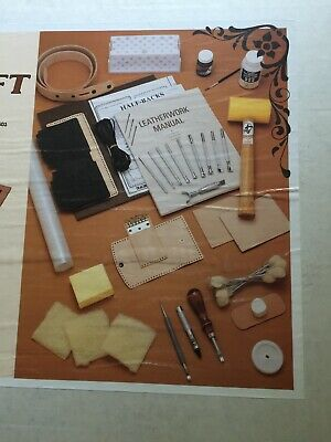 Tandy Deluxe Leathercraft Kit #5503 Complete
