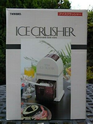 TWINBIRD Ice Crusher Manual Household Use Ice Splitting White From Japan