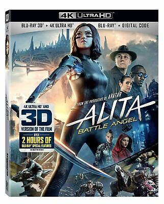 Alita: Battle Angel (3D, 4K UHD, Blu-ray, Digital) Brand New