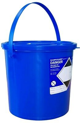 TWENTY X 11.5 Litre Sharps Bin Box Blue Pharmi Bin Medical Waste Sharpsguard
