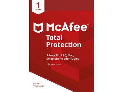 Mcafee Total Protection 2019 Full Version 1 Device 1 Year ESD Immediate Shipping