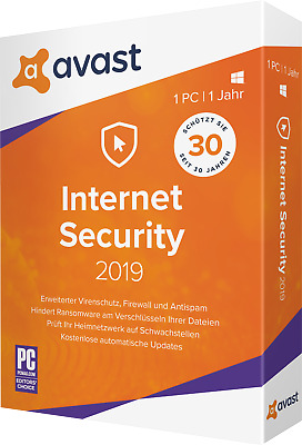 Avast Internet Security 2019 3 Devices 1 Year Full Version Download ESD