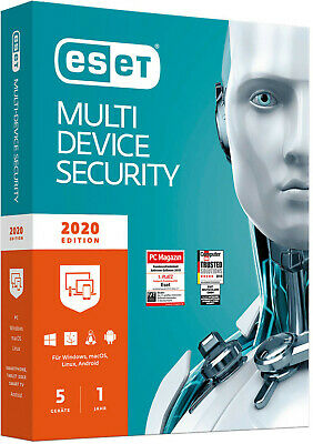 Eset Multi-Device Security 2019, 5 Devices, 1 Year, Download/ESD