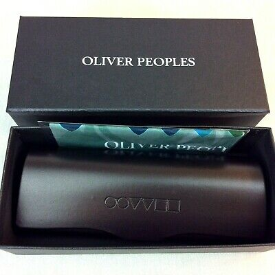 Oliver Peoples Eyeglasses Case Unisex Adult Brown Magnetic Italy New in Box