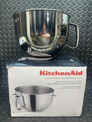 KitchenAid 6-Qt. Bowl-Lift Polished Stainless Steel Mixing Bowl, Comfort Handle