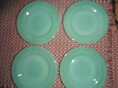"Vtg Fire King Jadeite 5 1/2"" Bread & Butter Plates Set 8 Restaurant Ware"