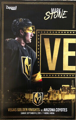 Mark Stone Vegas Golden Knights vs AZ Coyotes 9/15/19 Pre Season 3 Poster