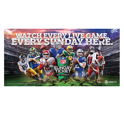 Brand New 2019 DirecTV Sunday Ticket NFL Football Banner 2x5 ft Mancave Outdoor